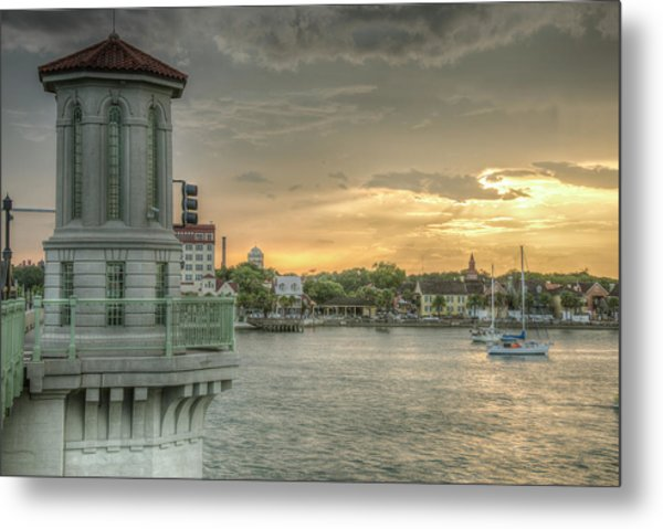 Tower Sunset Metal Print