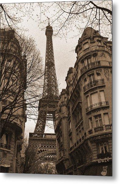 Towering Eiffel Metal Print
