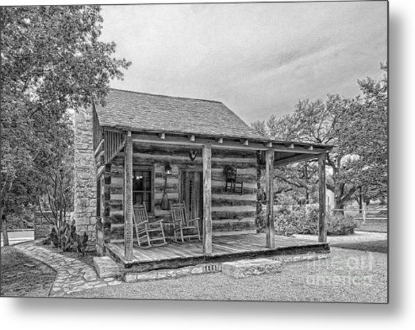 Town Creek Log Cabin Metal Print