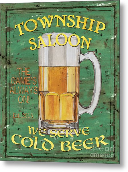 Township Saloon Metal Print
