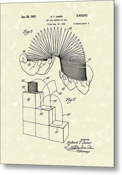 Toy 1947 Patent Art Metal Print