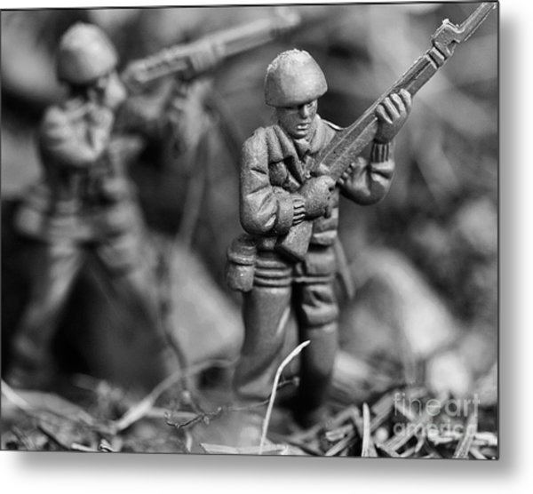 Toy Soldiers Metal Print by Randy Steele