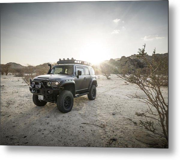 Toyota Fj Cruiser In Saudi Arabia Metal Print