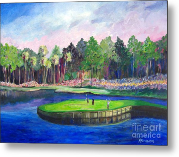 Tpc 17th Sawgrass Metal Print