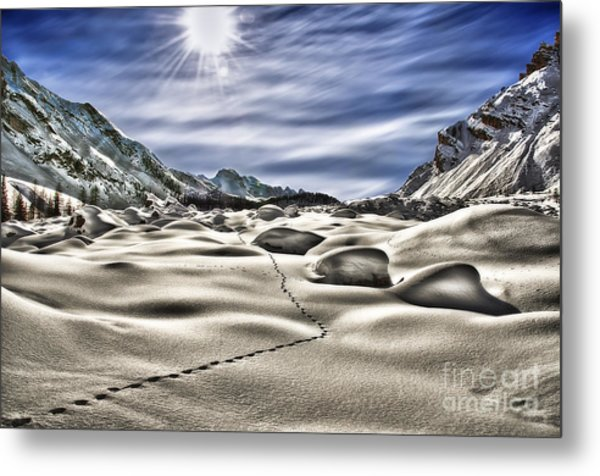Traces Metal Print by Alessandro Giorgi Art Photography