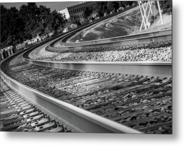 Metal Print featuring the photograph Tracks Through Historic Buford by Doug Camara