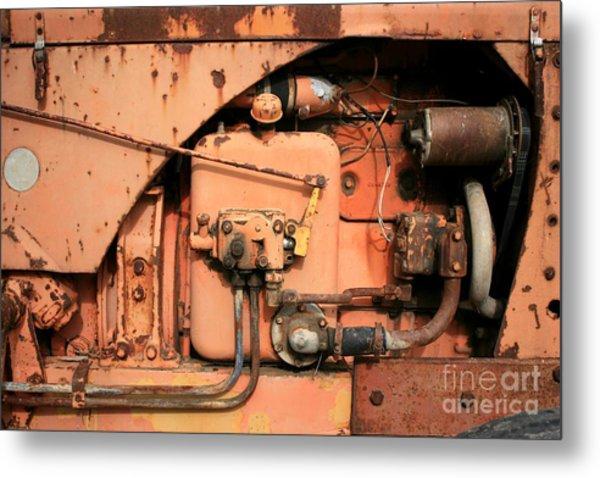 Tractor Engine V Metal Print