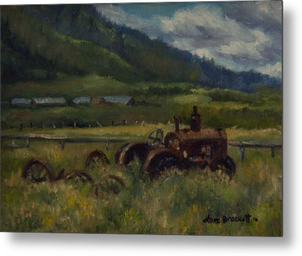 Tractor From Swan Valley Metal Print