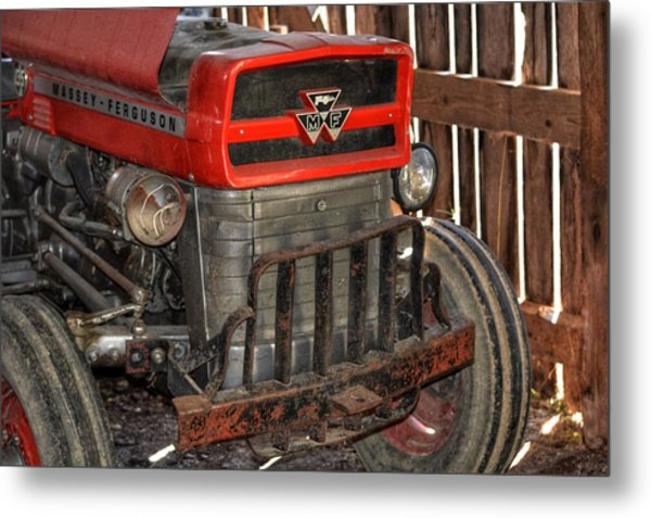 Tractor Grill  Metal Print