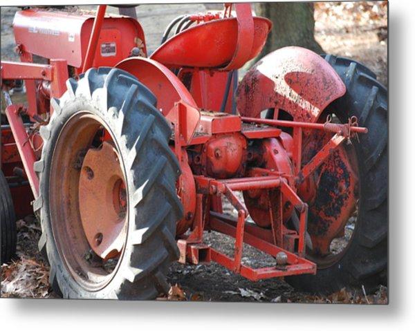 Tractor Metal Print by Peter  McIntosh