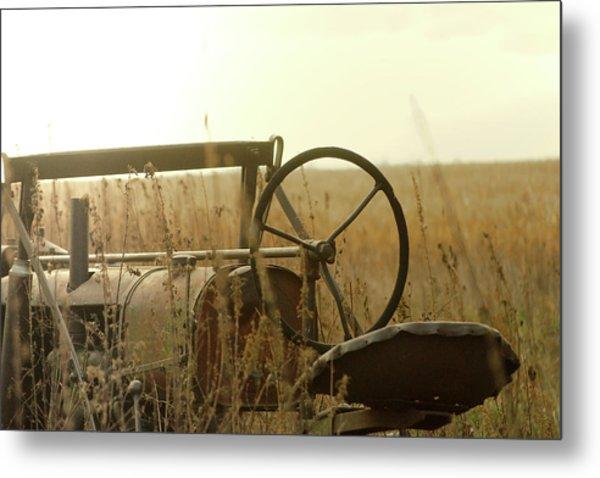 Tractor Sunrise Metal Print