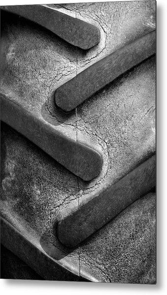 Tractor Tread Metal Print