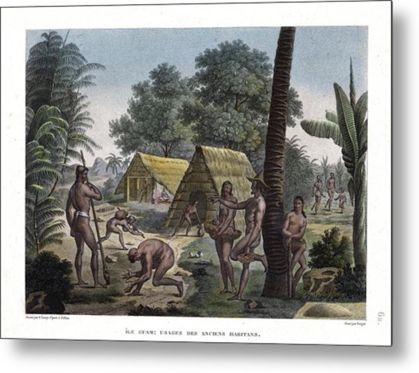 Traditional Customs Of The Chamorro Classes Metal Print