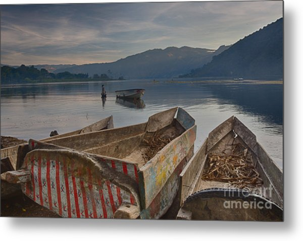 Traditional Fishing Metal Print