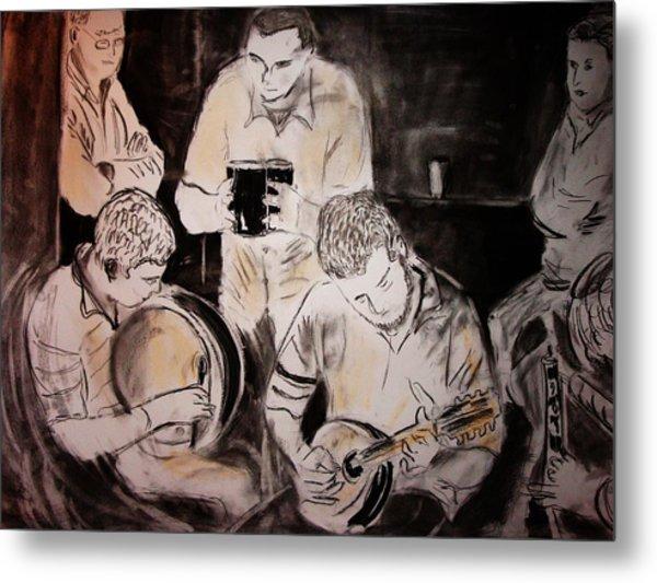 Traditional Irish Music Session Metal Print by Gerard Dillon