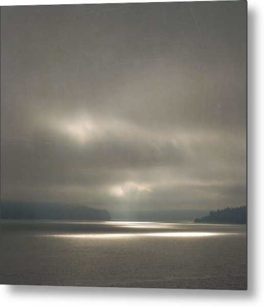 Metal Print featuring the photograph Trail Of Light by Sally Banfill