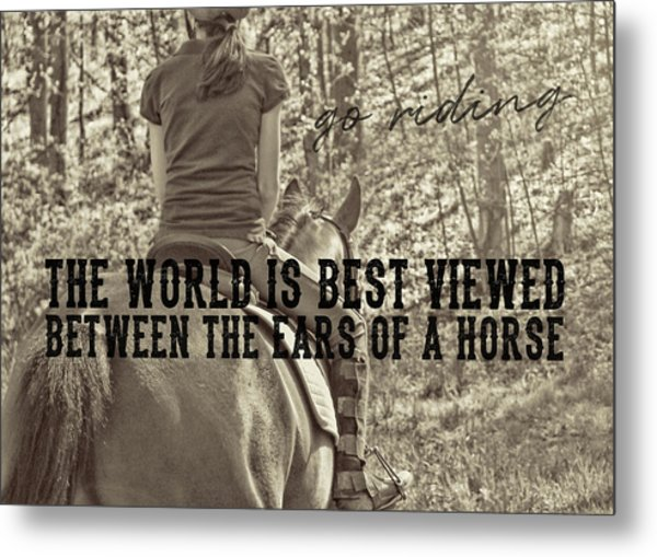 Trail Ride Quote Metal Print