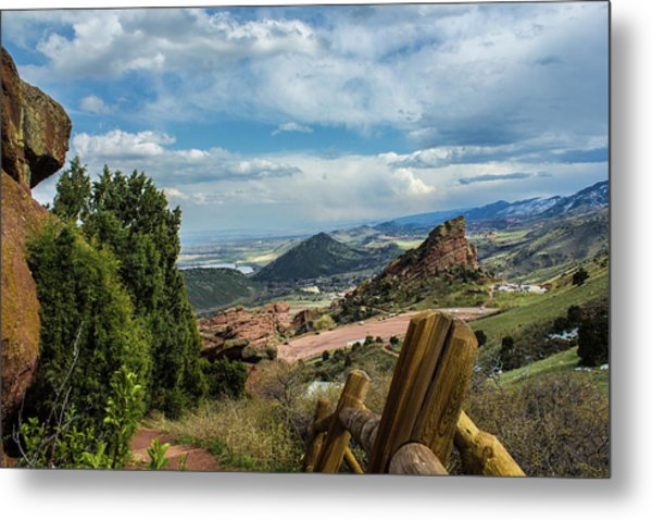 Trails At Red Rocks Metal Print