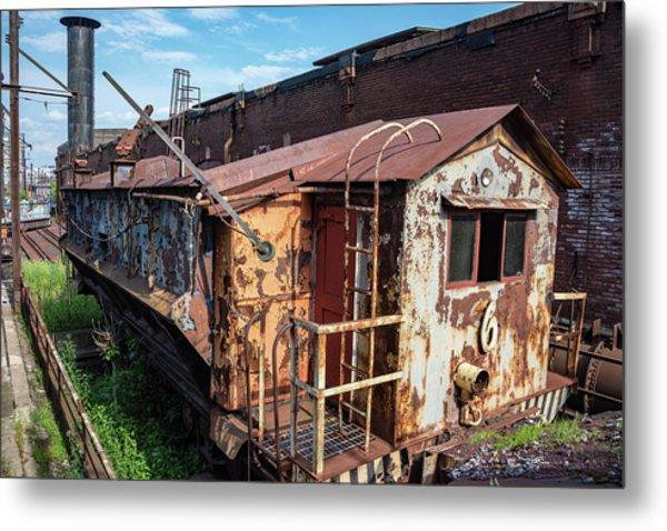 Train 6 In Color Metal Print