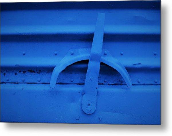 Blue Boxcar Bracket  Metal Print