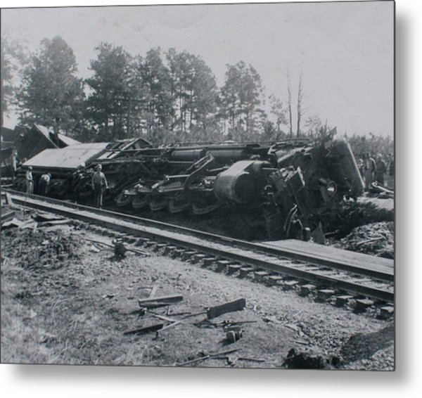 Train Derailment Metal Print