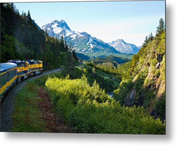 Train From The North Metal Print