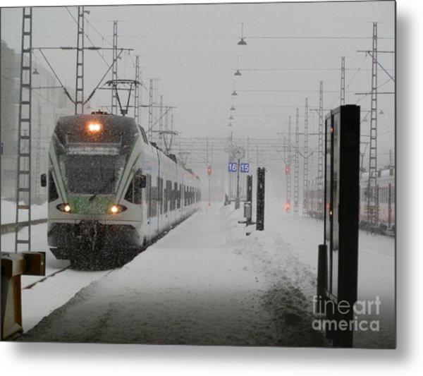 Train In Helsinki Metal Print