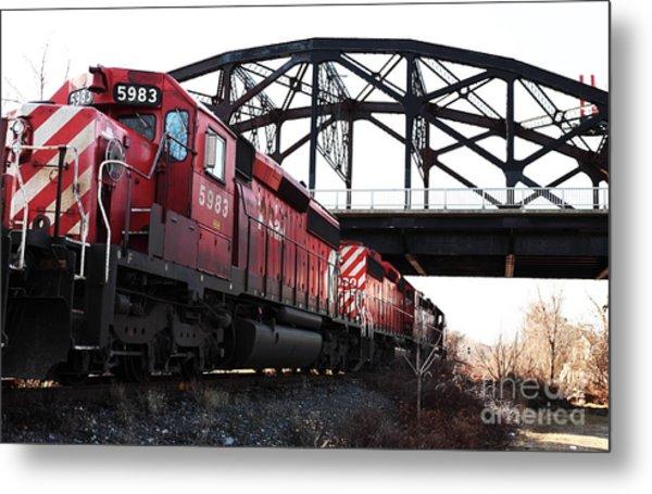 Train Metal Print by John Rizzuto