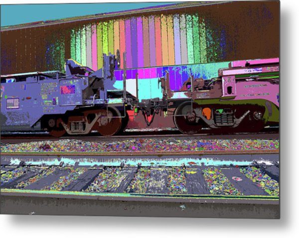 Train Parked Metal Print