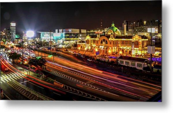 Train Station In Seoul Metal Print