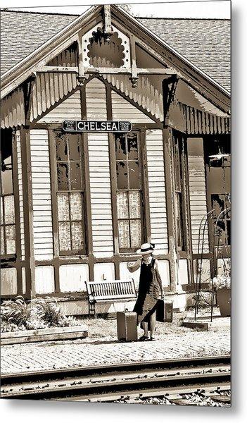 Train Stop Metal Print by William Furguson