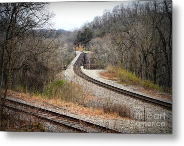 Train Tracks Across The New River - Radford Virginia Metal Print
