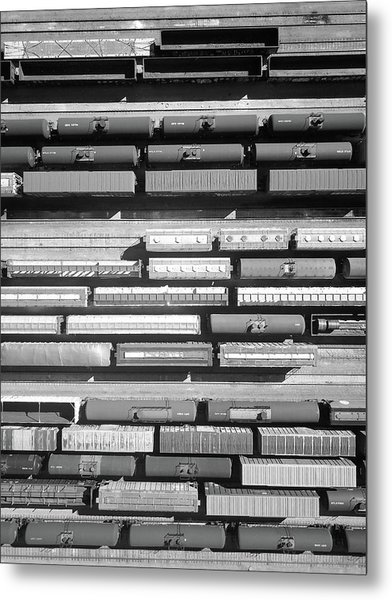 Trainyard Metal Print