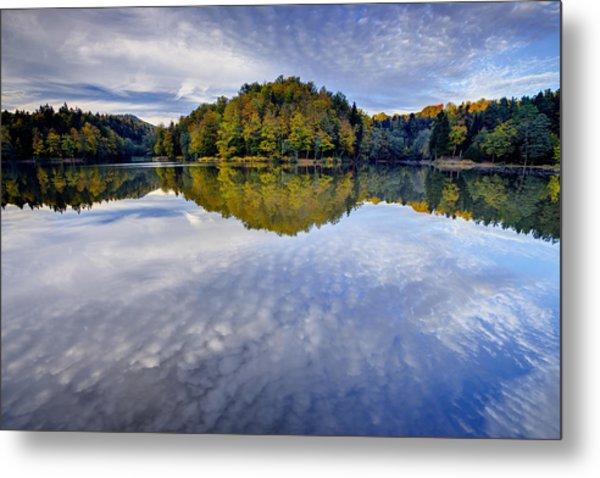 Trakoscan Lake In Autumn Metal Print