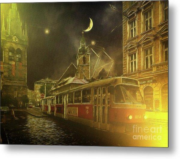 Tramatic - Prague Street Scene Metal Print