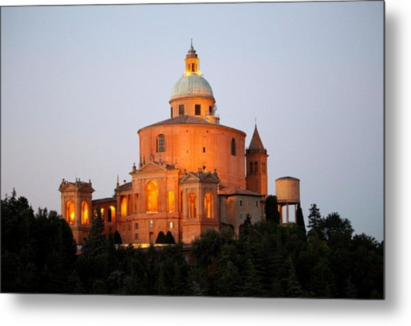 Metal Print featuring the photograph Tramonto Su San Luca, Bologna by Martina Uras