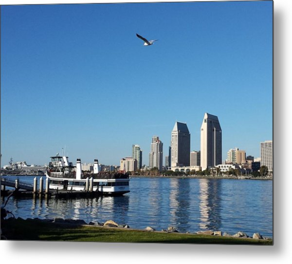 Tranquility By The Bay Metal Print