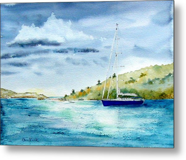 Tranquil Anchorage Metal Print