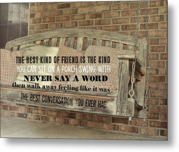 Tranquil Quote Metal Print by JAMART Photography