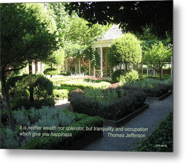 Tranquility And Occupation Metal Print