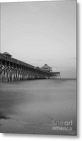Tranquility At Folly Grayscale Metal Print