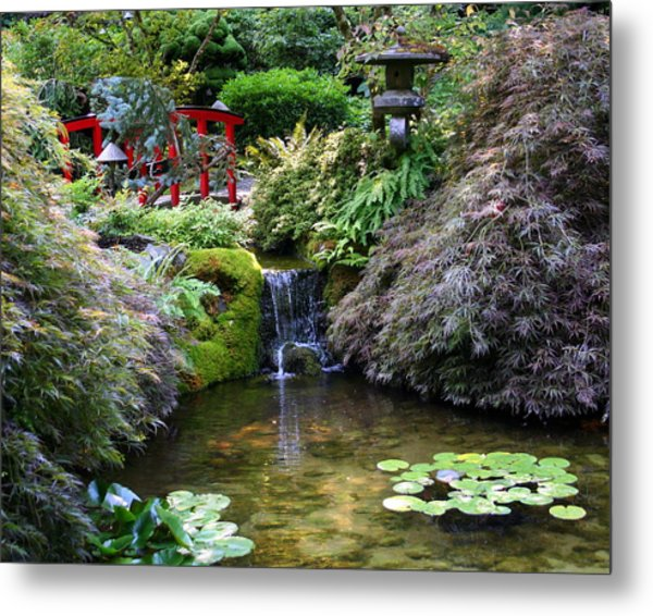 Tranquility In A Japanese Garden Metal Print
