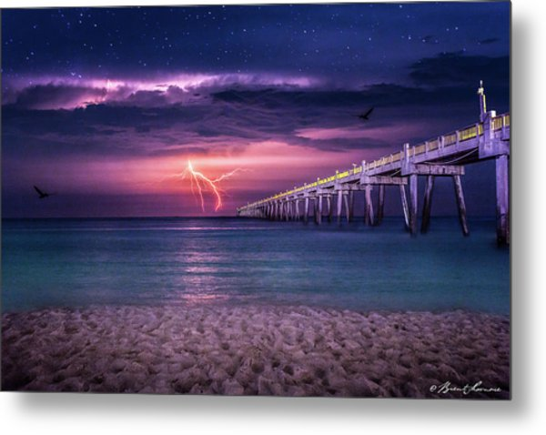 Tranquility- Pensacola Beach Metal Print by Brent Shavnore