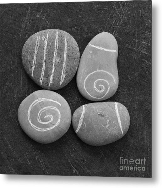 Tranquility Stones Metal Print