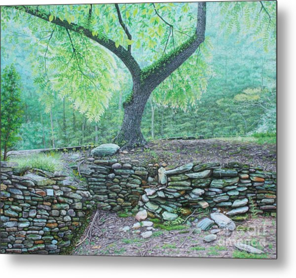 Metal Print featuring the painting Tranquillity by Mike Ivey