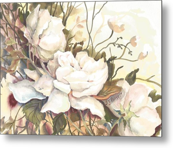 Tranquility Study In White Metal Print
