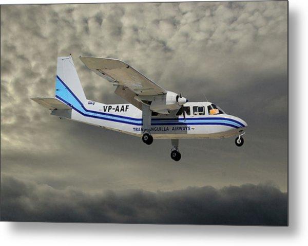 Trans Anguilla Airways Britten-norman Bn-2b-21 Islander 116 Metal Print
