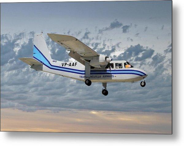 Trans Anguilla Airways Britten-norman Bn-2b-21 Islander 113 Metal Print
