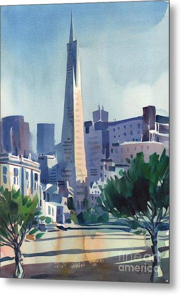 Transamerica Building Metal Print by Donald Maier
