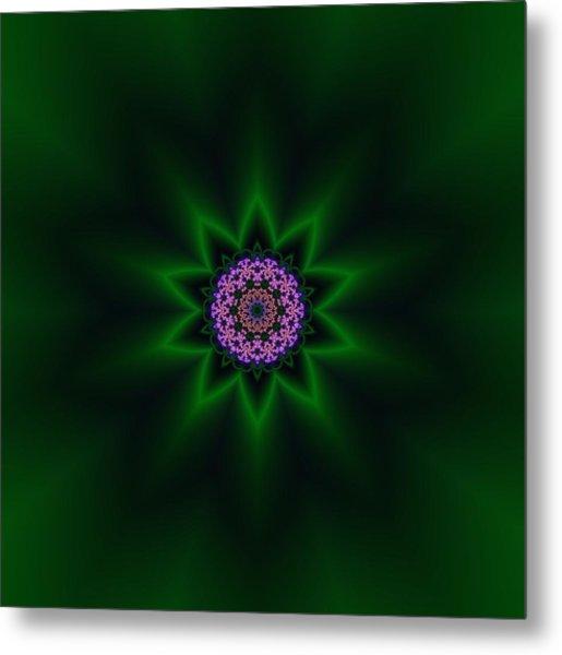 Metal Print featuring the digital art Transition Flower 10 by Robert Thalmeier